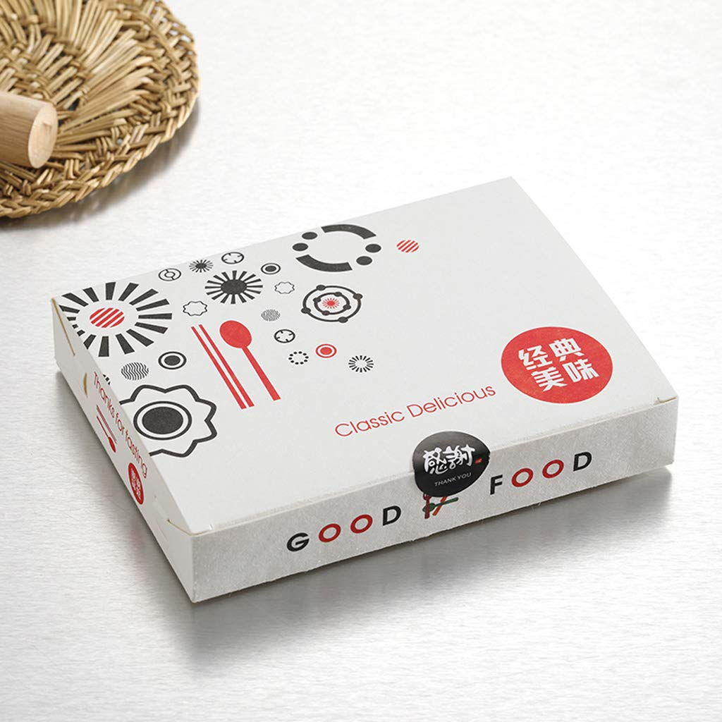 使い捨て紙包装箱 - 寿司刺身ステーキパスタライスランチボックス[200パック] (Color : S)  S B07SNV3GTM