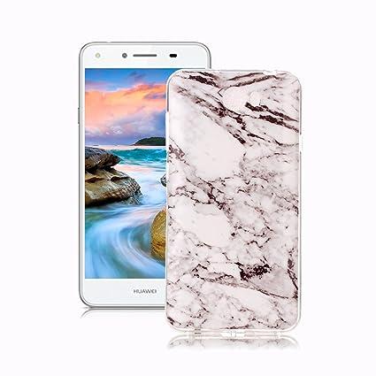 Yunbaozi Funda para Huawei Y5 II/ Y5 2 Mármol, Diseño Mármol ...