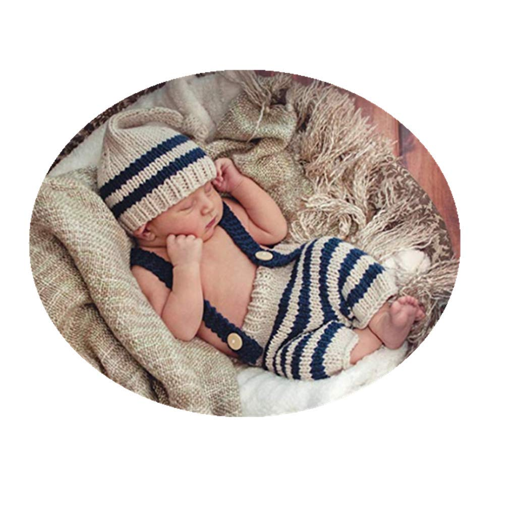 54ce2d43143 Fashion Cute Newborn Baby Photography Props Outfits Boy Girl Crochet  Knitted Hat Pant  Amazon.ca  Luggage   Bags