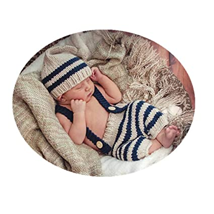 143baa5eb1a Fashion Cute Newborn Baby Photography Props Outfits Boy Girl Crochet  Knitted Hat Pant  Amazon.ca  Luggage   Bags