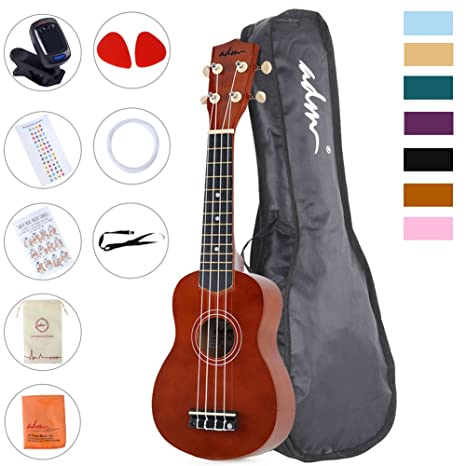 Amazon Adm Beginner Ukulele 21 Inch Soprano Kids Starter Pack