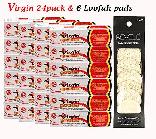 Virgin Hair Fertilizer 125g (24Pack) & 1X Revele Facial Cleansing Pad by Virgin