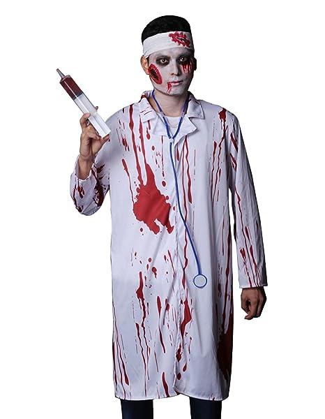 Halloween Costumes Scary Men.Amazon Com Sexy Ghost Costume Halloween Bloody Doctor