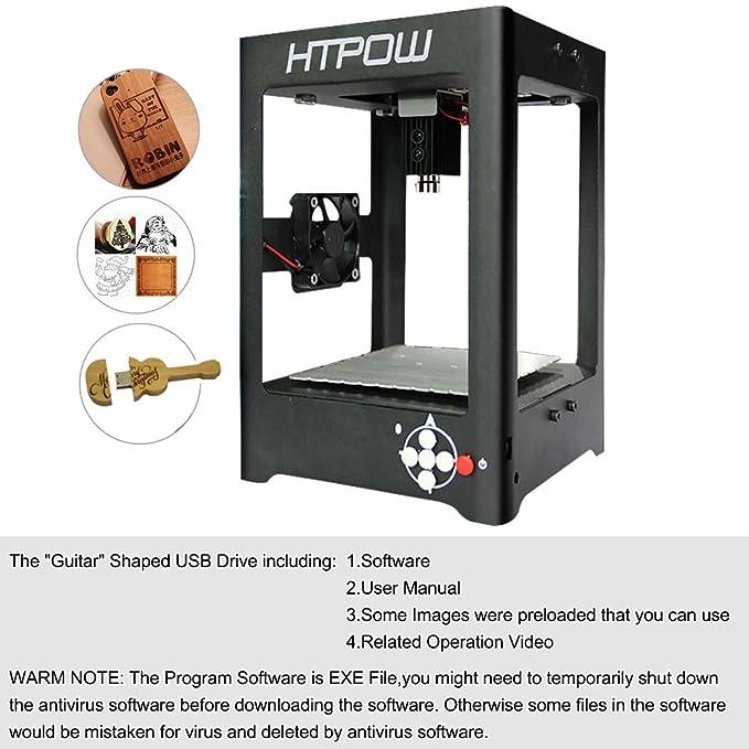 HTPOW 1000mw Mini USB Laser Engraver DIY Art Craft Printer Cutting Machine by HTPOW: Amazon.es: Hogar