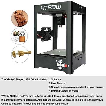 HTPOW 1000mw Mini USB Laser Engraver DIY Art Craft Printer Cutting
