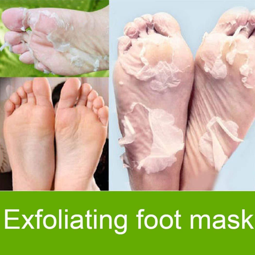 Foot peel, Foot Mask Exfoliating Foot Peel Mask Remove Hard Dead Skin Cuticles Heel Anti Aging (1 Pair)