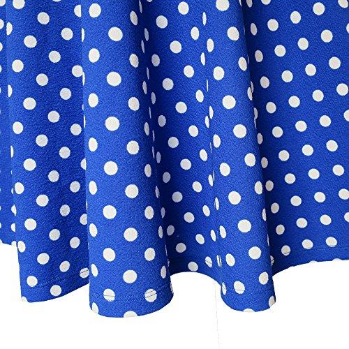 Spiaggia Ragazze Tie Bow Vestono Blu Dimensioni D'estate Anni Corta Manica 12 4 Prendisole Si Dot rqTrx0S