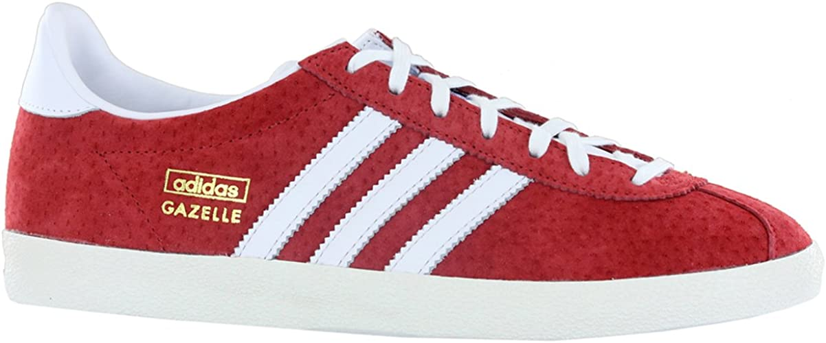 píldora progresivo Compuesto  Adidas Gazelle OG Red White Suede Leather Mens Trainers Size 9 UK:  Amazon.co.uk: Shoes & Bags