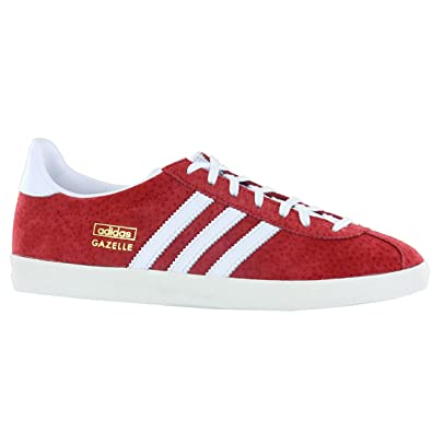 Adidas Gazelle OG Red White Suede Leather Mens Trainers Size