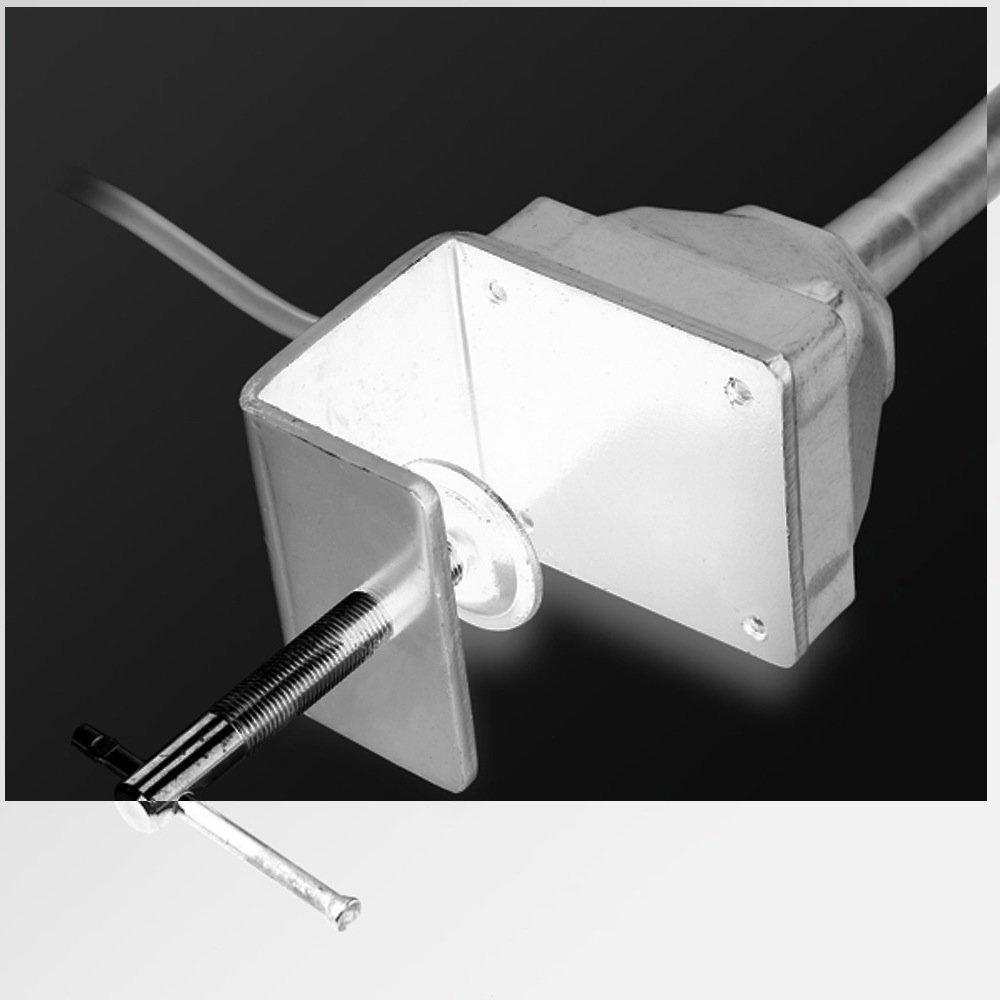 LED WHITE Task Sewing Uber Light Gooseneck Lamp Bendable Steel 22'', C-clamp Table Mounted, 110v + 28 LED Light