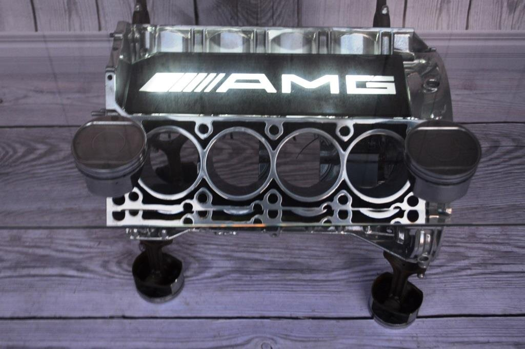 Mercedes S500 V8 Engine Table Coffee Table Coffee Table Engine