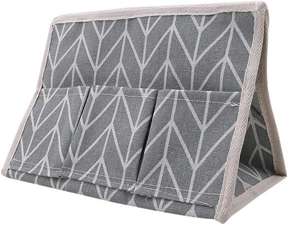 LASISZ Caja de pañuelos para Almacenamiento de algodón y Lino para Viento Pastoral Soporte de pañuelos Multifuncional Cubierta de pañuelos para desechos de Escritorio Sala de Estar, Gris: Amazon.es: Hogar
