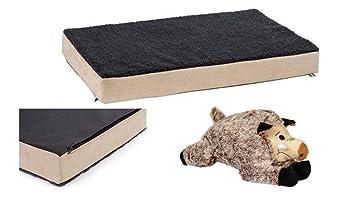 orthopädisches cama para perros 80 x 50 x 8 cm Salud cama druckentlastend con peluche de