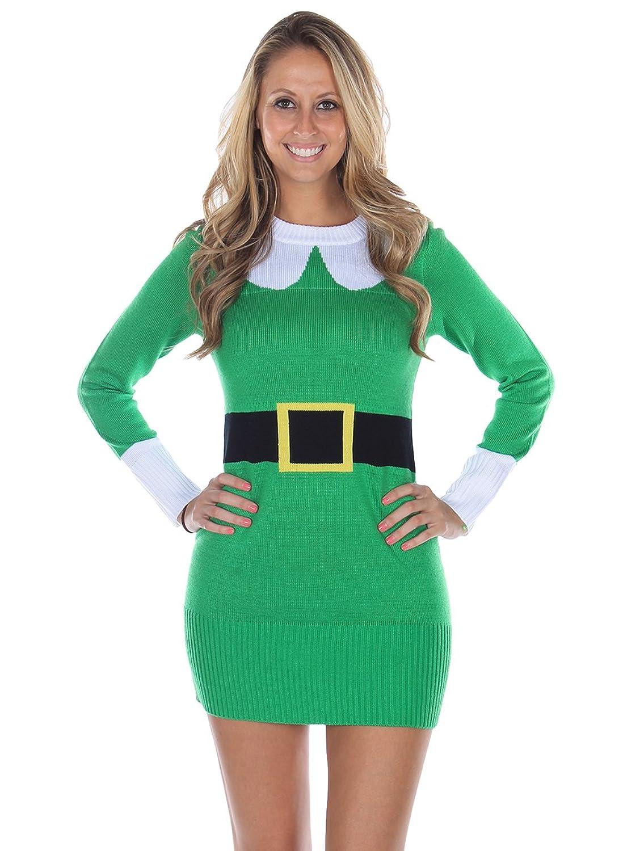 Elfe Damen Weihnachts-Pulloverkleid von Tipsy Elves
