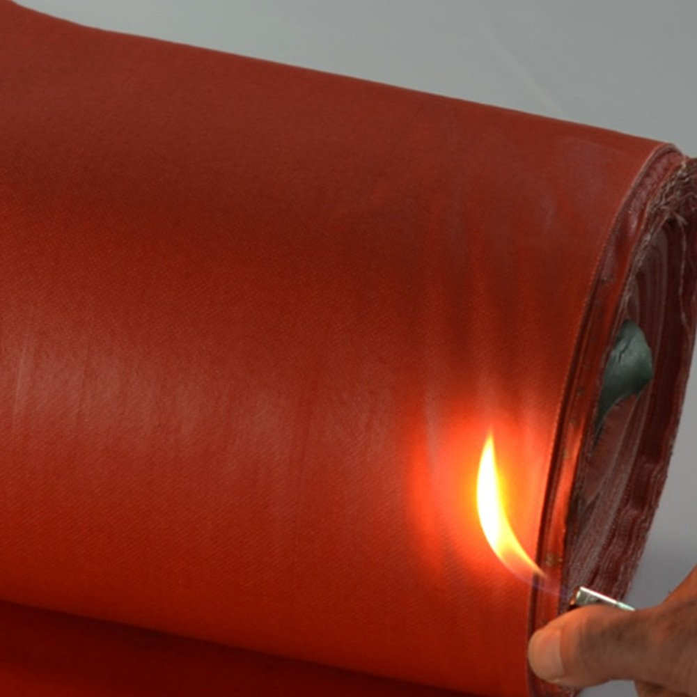 KKCF オーニング オーニング サンシェード オーニングシェード タープ  オーニング 日よけ PVC ガラス繊維 防火 難燃剤 厚い 耐高温性 防炎ヘッド 耐溶接スラグ、550g/m²、厚さ0.5mm (色 : Red, サイズ さいず : 3x3m) B07FXBD55P 3x3m Red Red 3x3m