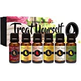 Treat Yourself - Gift Set of 6 Premium Fragrance Oils - Red Currant & Cream, Strawberry Champagne, Spiced Coconut Milk…