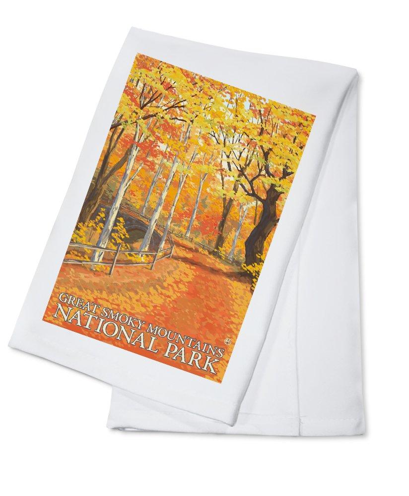 グレートスモーキー山脈国立公園、テネシー州 – Fall Colors Cotton Towel LANT-46494-TL B0184BYKEI  Cotton Towel