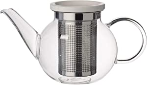 Villeroy & Boch Artesano Hot Beverages Teapot with Strainer : Small, 17 oz, Crystal Glass, Clear