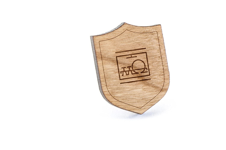 Wooden Pin Dishwasher Lapel Pin
