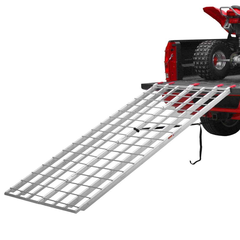 Black Widow IBF-9550 ATV Loading Ramp (Aluminum Extra-Long Bi-Fold Atv Ramps) by Black Widow