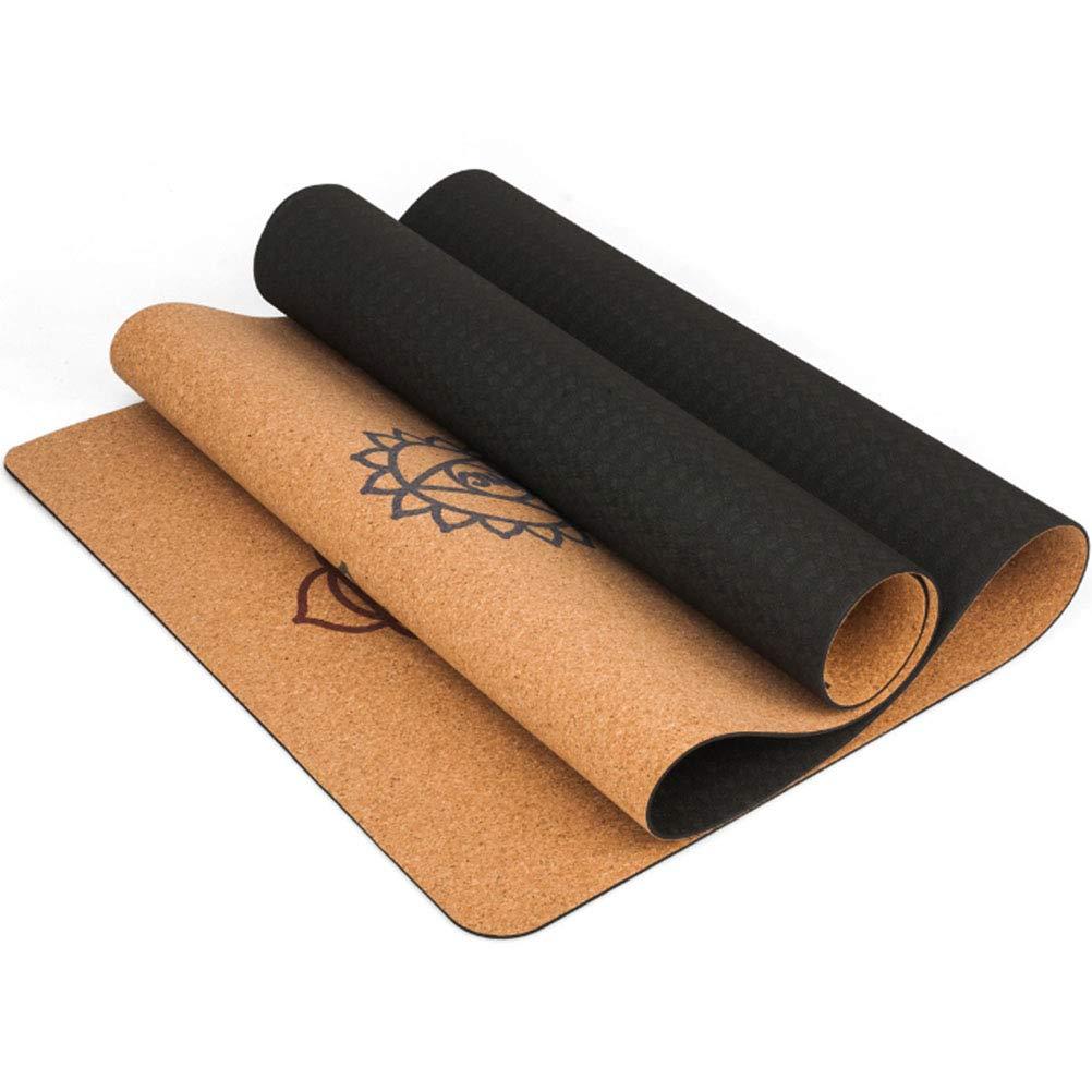 ZH Anti-Slip Cork Yoga Mat Fitness Matte Hohe Temperatur, Faltbare Tragbare Yoga-Matte