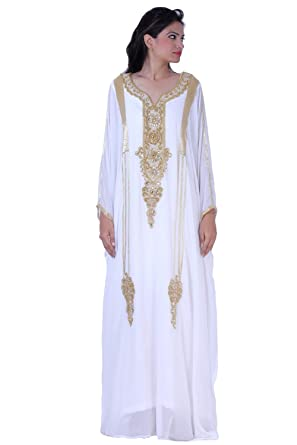 Dubai Kaftans Maxi Dress Long Dress Abaya Jalabiya Wedding Kaftans ...