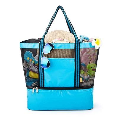 Amazon.com: yodo - Bolsa de playa con enfriador aislante ...