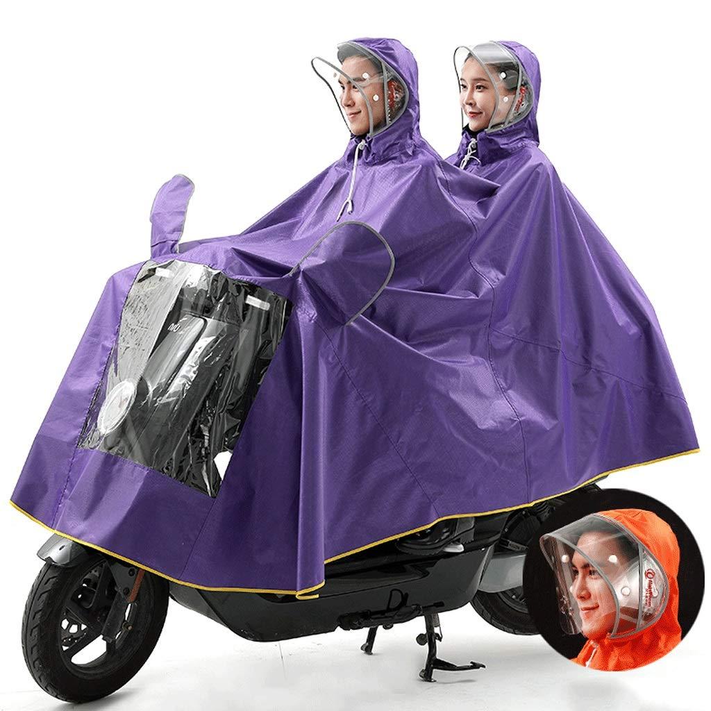 Violet XXXXL Duanguoyan Imperméable- Imperméable pour Voiture électrique Adulte Homme et Femme 2 Personnes Poncho Moto (Couleur   Violet, Taille   XXXXL)