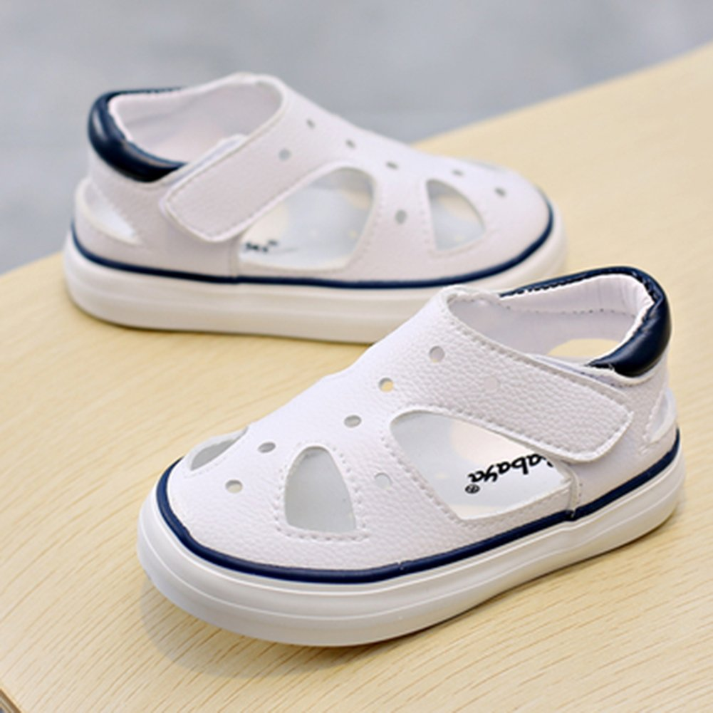 SFNLD InStar Kids Fashion Round Toe Low Top Hollow Out Hook and Loop Sneakers Sandals