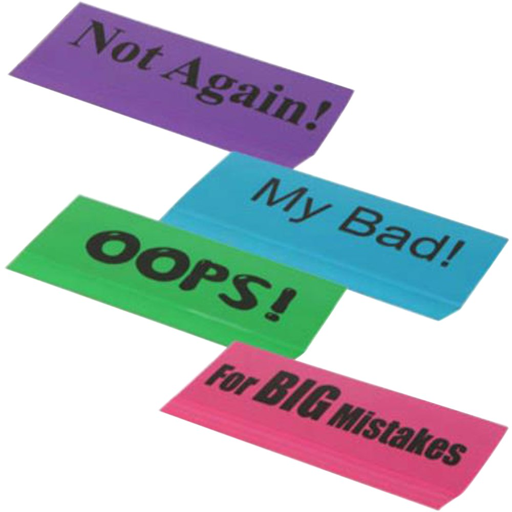 Set of 4 Jumbo Novelty Erasers 5.5 x 1.75 x 0.5 inches (Comes with Free How to Live Stress Free Ebook)