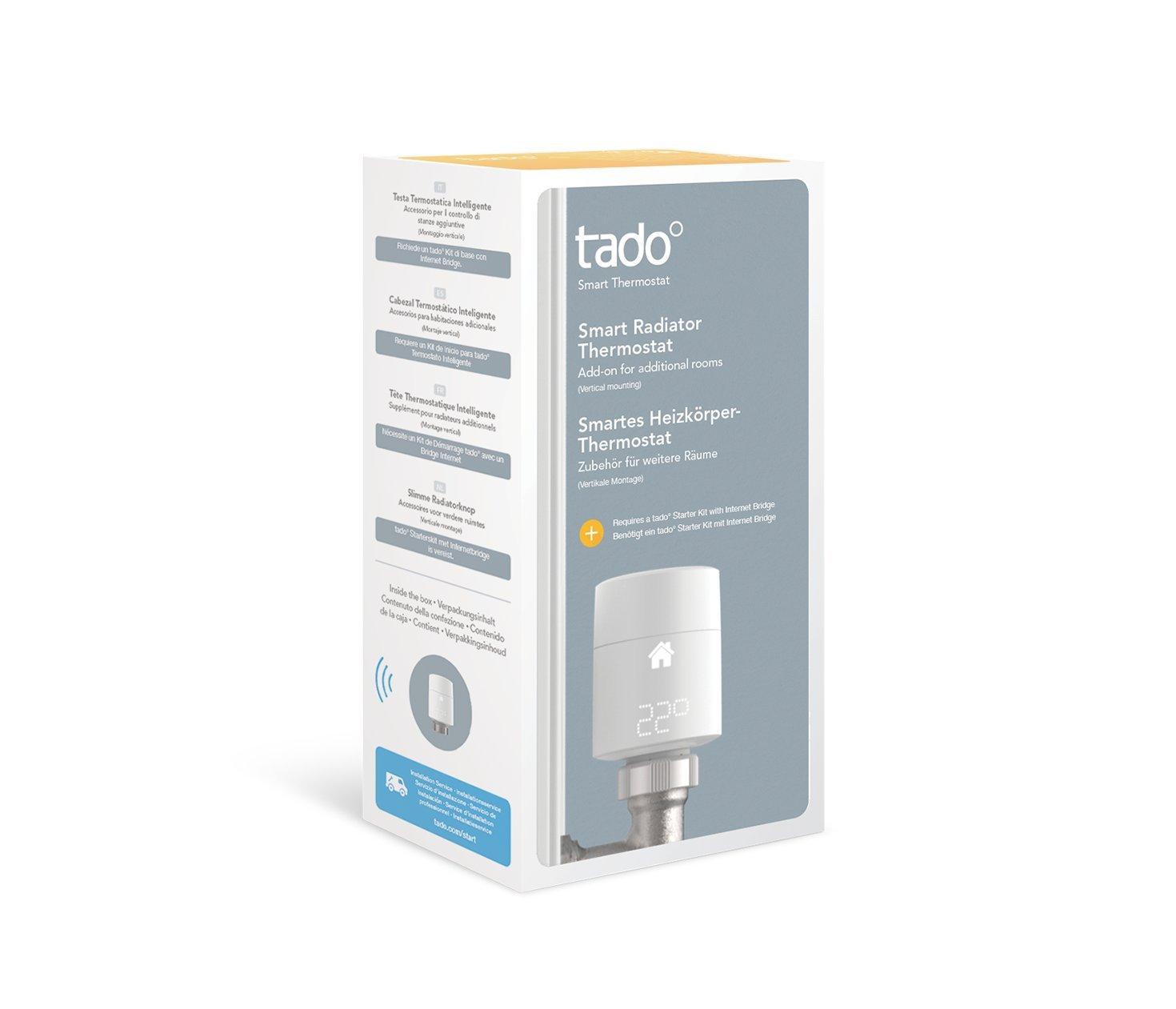 Tado - Cabezal Termostático Inteligente. Montaje vertical (versión inglesa): Amazon.es: Bricolaje y herramientas