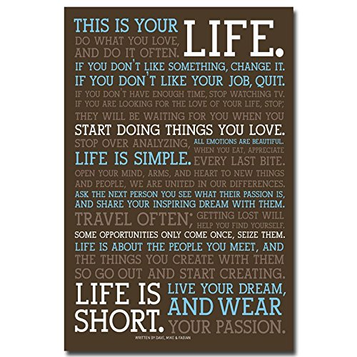 Dawn sky This Is Your Life - Motivational Quote Silk Poster