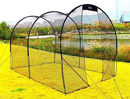 Galileo Baseball Batting Cage Heavy Duty Netting Backstop Nets Training Baseball for Pitching Pitchers 16x10x10FT ()