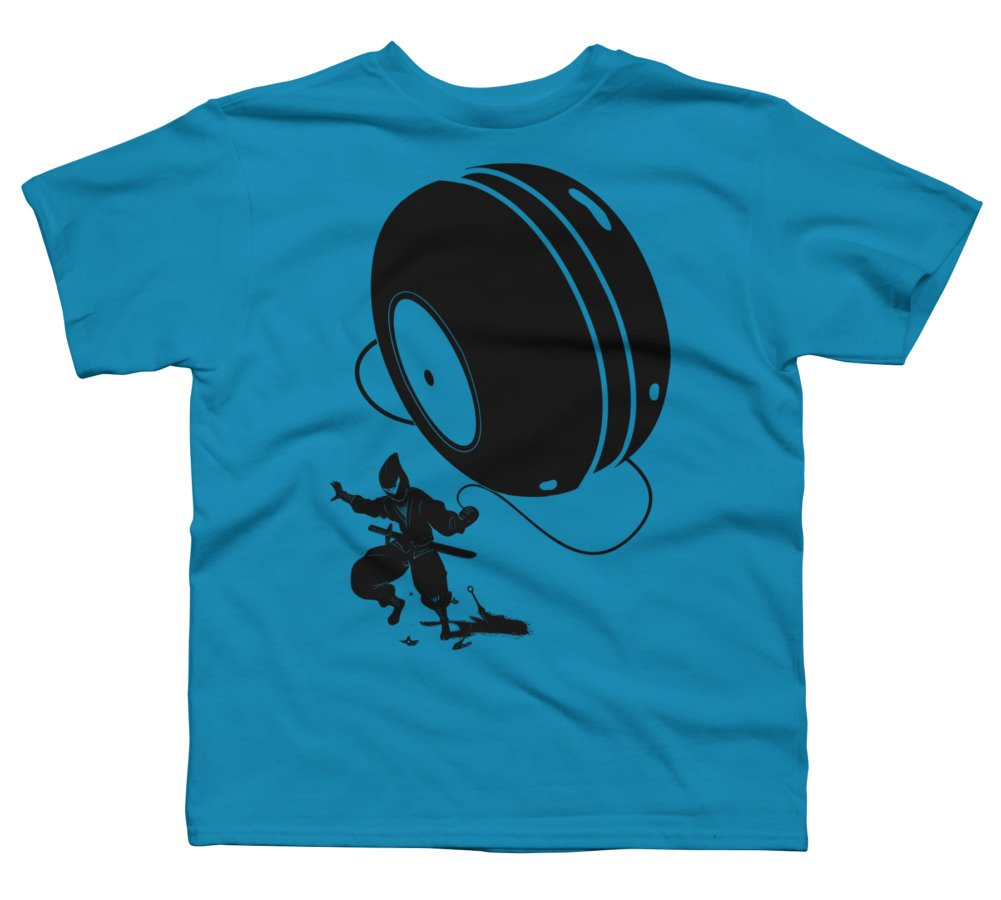 Design By Humans Ninja Yo-Yo Boys Large Turquoise Youth ...