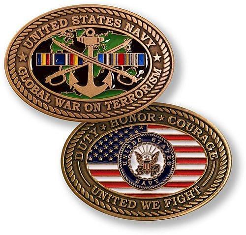 War Challenge Coin - Navy Global War on Terror - Enamel