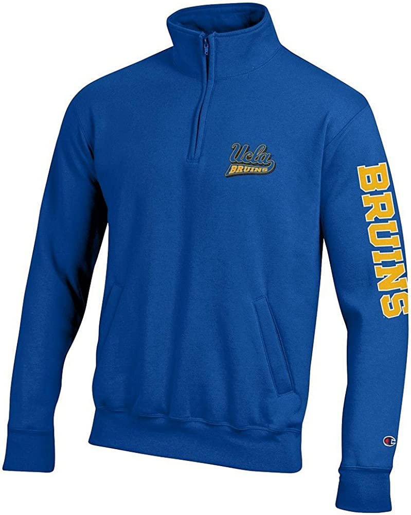 Elite Fan Shop NCAA Mens Quarter Zip Sweatshirt Arm Team