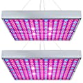 Hytekgro LED Grow Light 45W Plant Lights Red Blue White Growing Lamp Bulb Panel for Indoor Plants Seedling Vegetable and Flower (2 Pack)