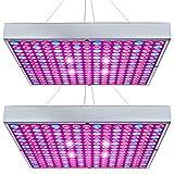 Hytekgro LED Grow Light 45W Plant Lights Red Blue White Growing Lamp Bulb Panel for Indoor Plants Seedling Vegetable and Flower (2 Pack)