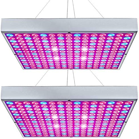 Hytekgro LED Grow Light 45W Plant Lights Red Blue White Panel Growing Lamps for Indoor Plants Seedling Vegetable and Flower 2 Pack