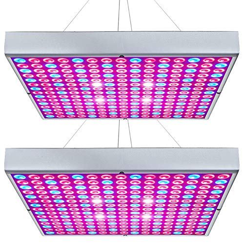 (Hytekgro LED Grow Light 45W Plant Lights Red Blue White Panel Growing Lamps for Indoor Plants Seedling Vegetable and Flower (2 Pack) )