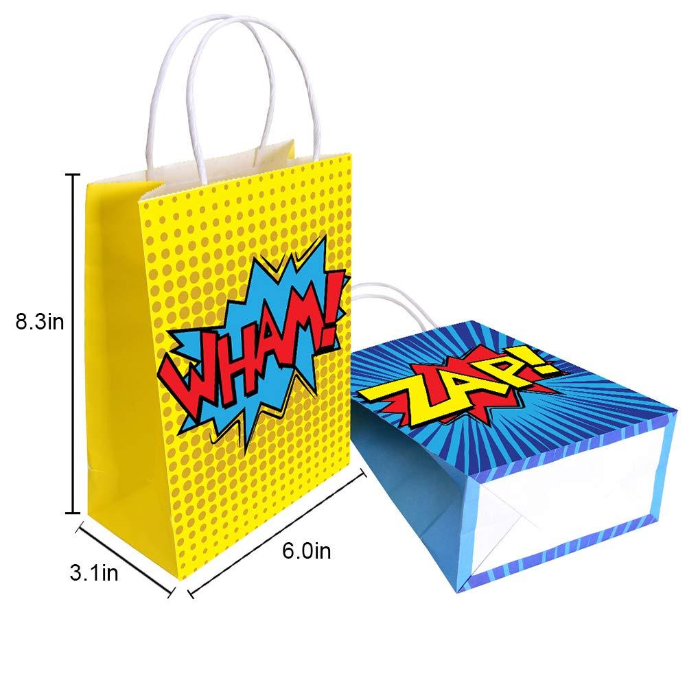 Amazon.com: Superhéroe Party Supplies Favors, Bags for Theme ...