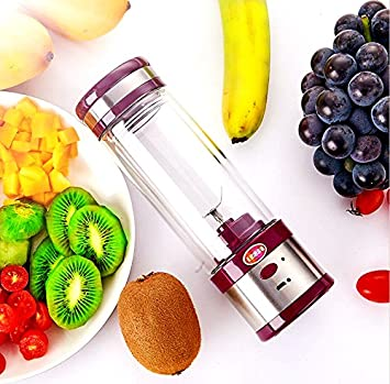 Juicer CupxFF0C;Portable USB Rechargeable Portable Blender with 400ml Bottle, Fruit, Smoothie, Baby Food Mixing Machine with Powerful Motor, Perfect for Home & Office Kuso