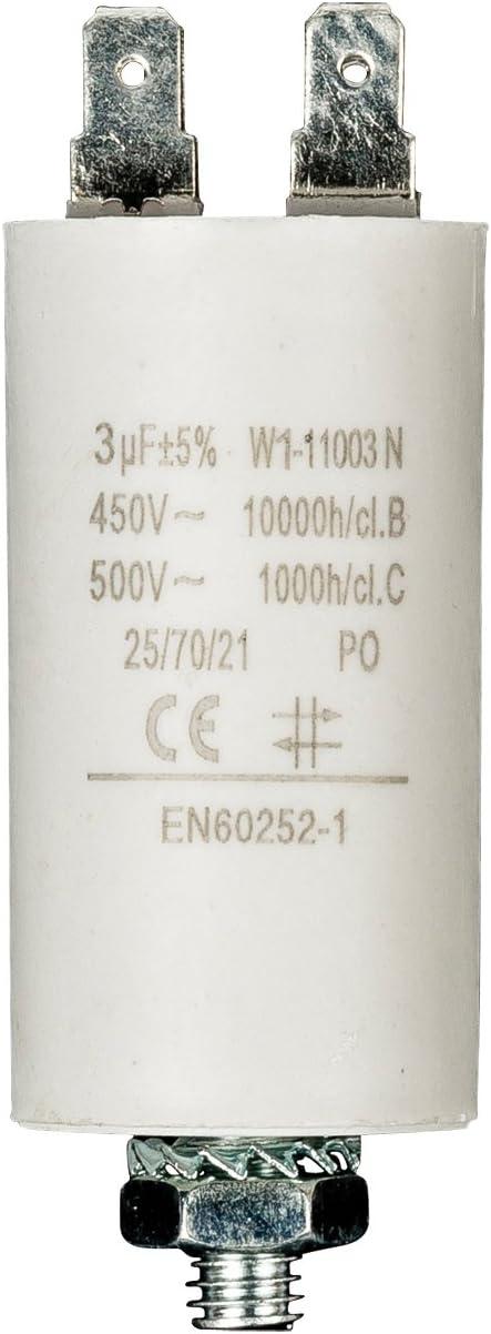 Fixapart - Condensador 3.0Uf / 450 V + Tierra
