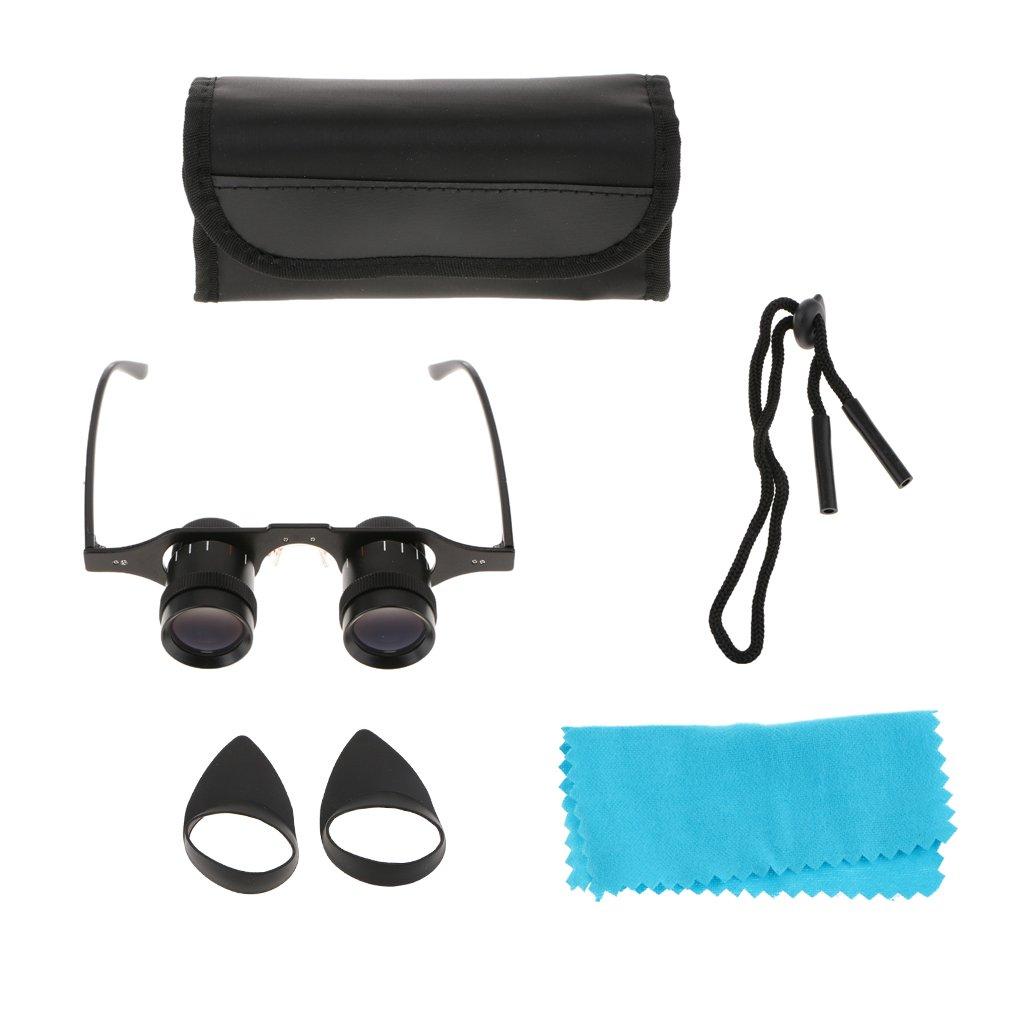 Homyl 5x34 Glasses Style Eyeglasses Telescope Magnifier Hand Free Fishing Optics Binoculars Outdoor Hiking Concert by Homyl