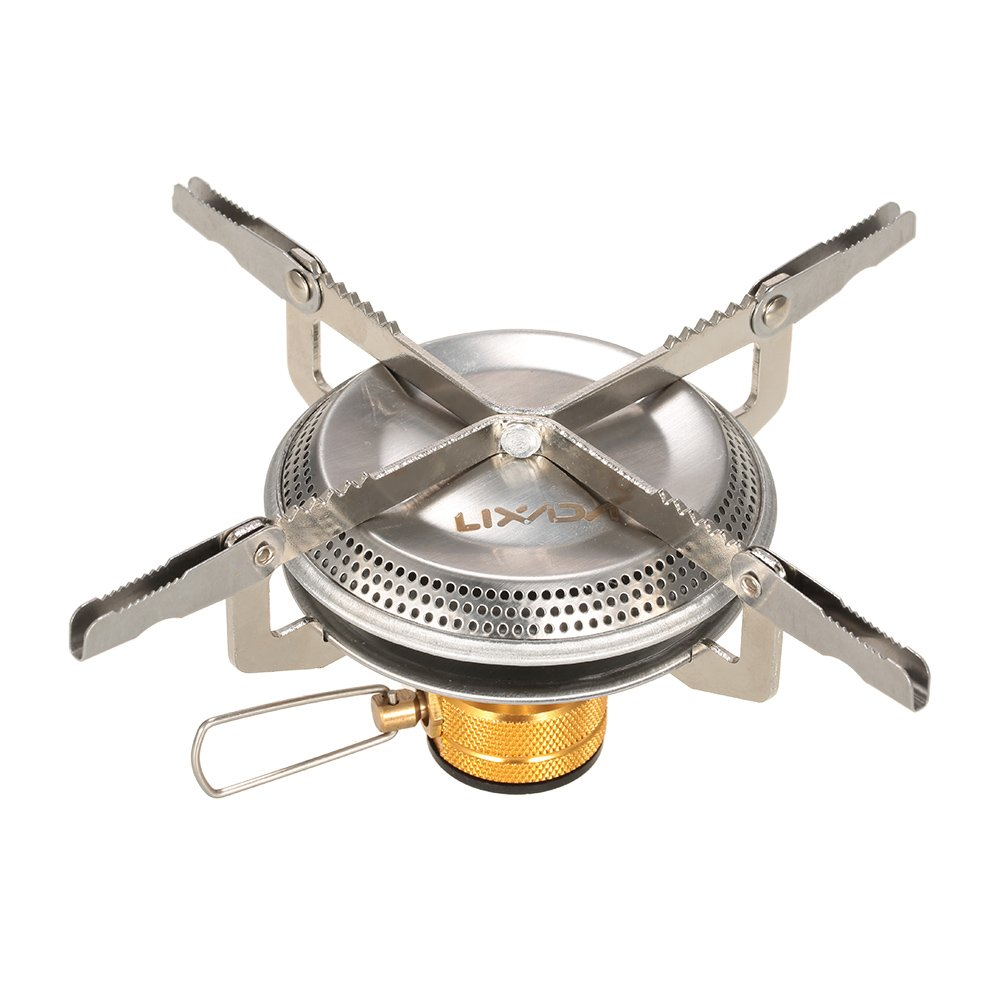 Lixada Portable Ultralight Outdoor Camping Gas Stove Hiking Backpacking Picnic Cooking 3500W