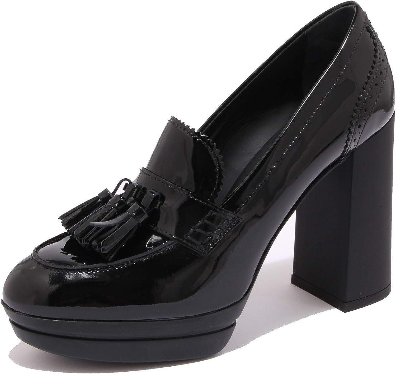 Hogan 7080K Decollete Donna Black H391 Scarpe Vernice Patent Shoe ...