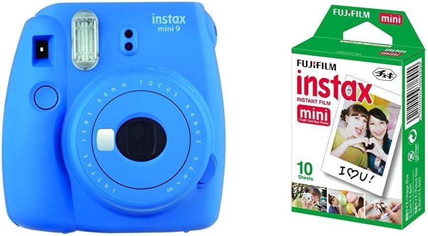 Fujifilm Instax Mini 9, Azul marino + 1 paquetes de películas fotográficas instantáneas (10 hojas): Amazon.es: Electrónica