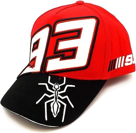 Marc Marquez 93 Ant pico Moto GP gorra roja oficial Nuevo: Amazon ...
