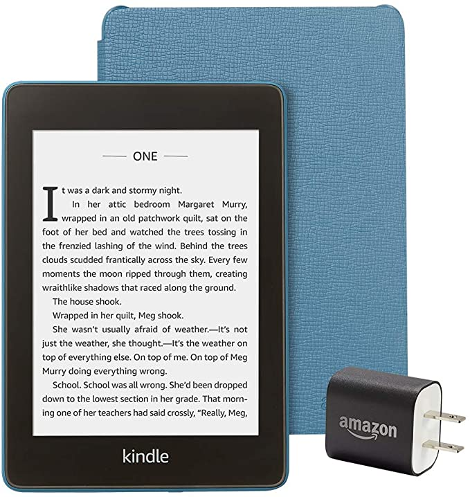 Kindle Paperwhite Essentials Bundle including Kindle Paperwhite  Wifi AdSupported Amazon Leather Cover and Power Adapter at Kapruka Online for specialGifts