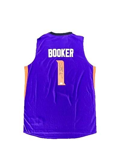 quality design 2a84b 75758 Devin Booker Phoenix Suns Away Purple Autographed Signed ...